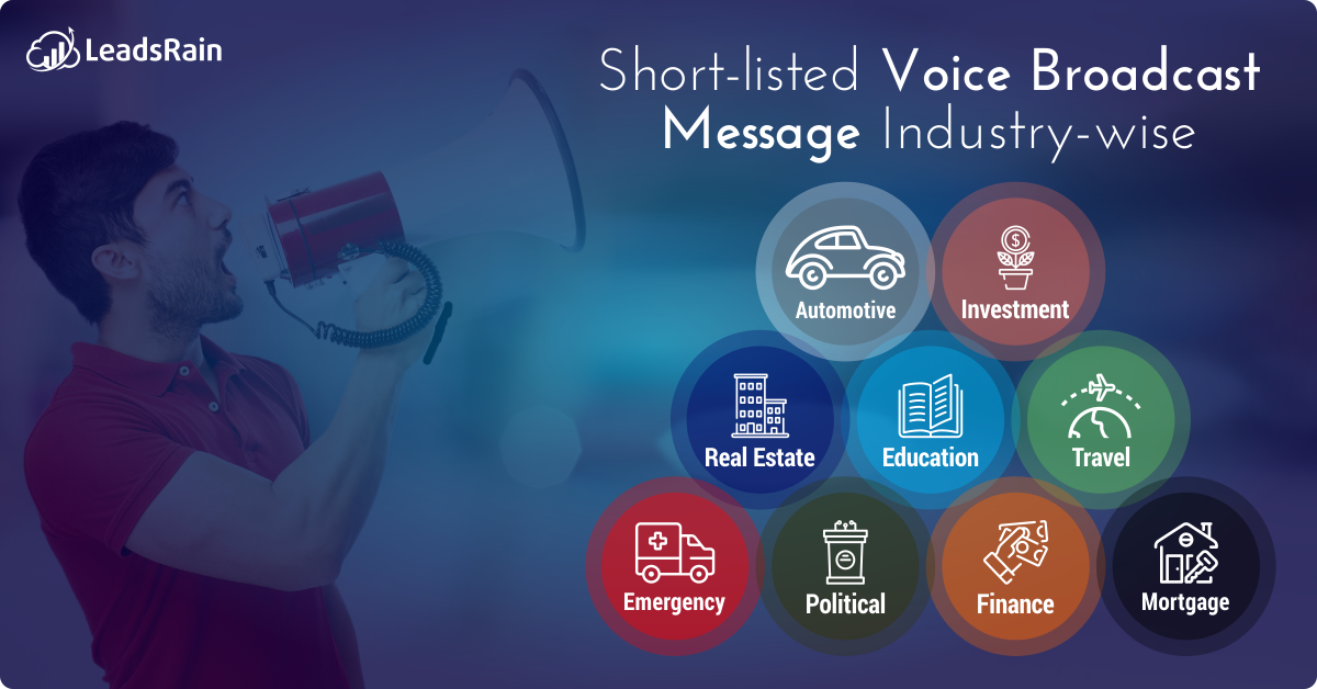 Short-listed voice broadcast messages for your industry!