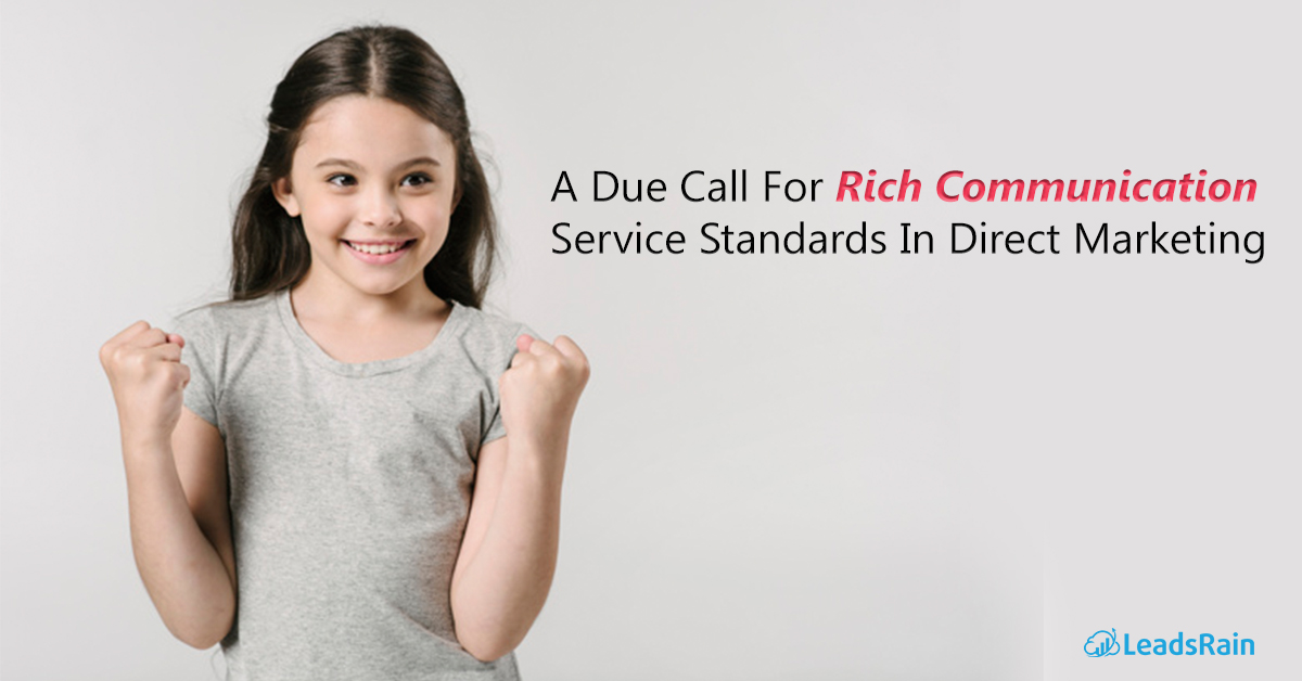 A Due Call For Rich Communication Service Standards In Direct Marketing
