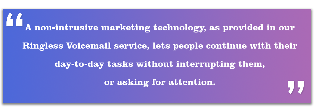 A non-intrusive marketing technology,