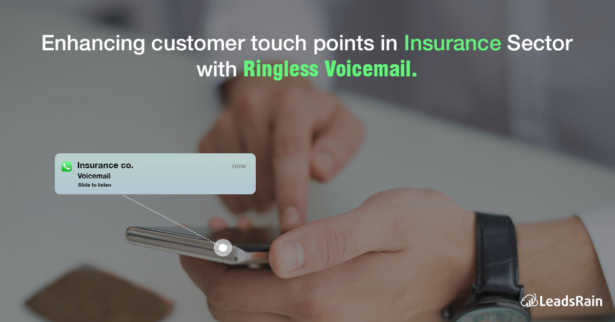 How Ringless Voicemail Drops. can help Insurance Agencies