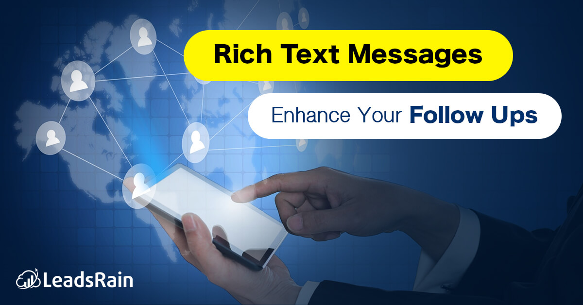 Rich Text Messages Tool to boost your Sales Follow Strategy