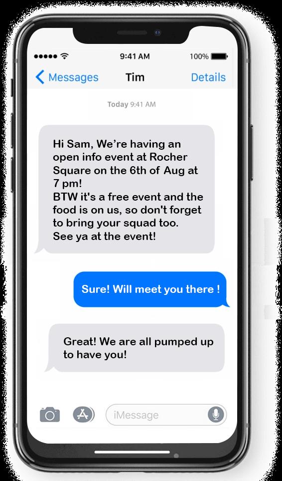 Sending Updates Text Messaging POlitical Campaign