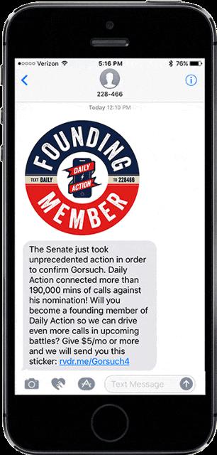 Founding Member MMS Marketing Sample