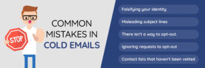 Common mistakes in cold emails