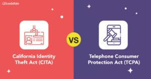 California Identity Theft Act (CITA) vs. Telephone Consumer Protection Act (TCPA)