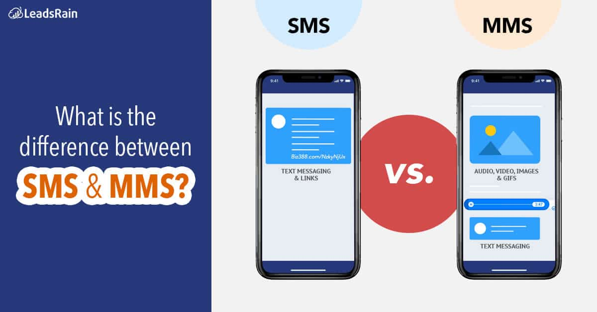 What is the difference between SMS and MMS